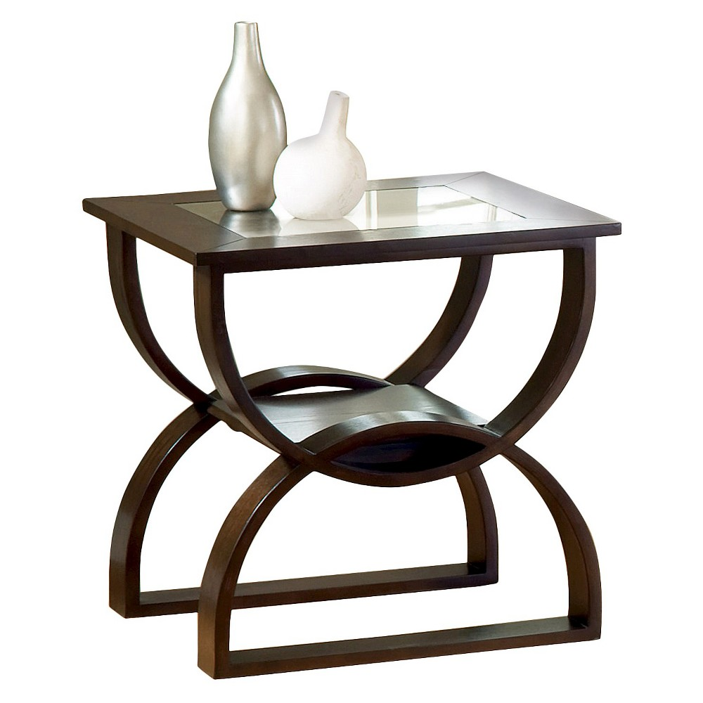 Dylan End Table Merlot - Steve Silver, Brown