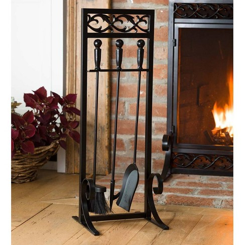 Cast Iron Scrollwork Fireplace Hearth Tool Set - Plow & Hearth - image 1 of 1