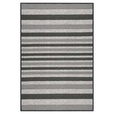Gray Stripes Washable Doormat - (2'X3'4 )- Maples