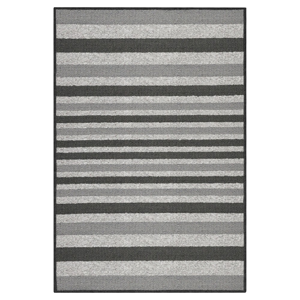 "Image of ""2'X3'4"""" Stripes Washable Doormat Gray - Maples"""