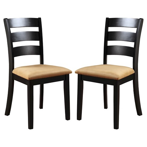 Set of 2 Kensington Ladder Back Chair Wood/Black - Inspire Q - image 1 of 3
