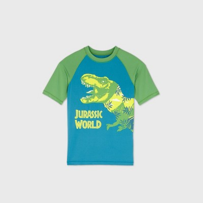 Boys' Universal Jurassic World Rash Guard Swim Shirt - Blue