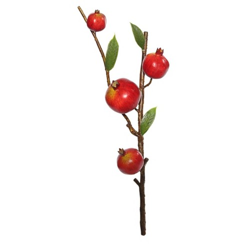 "Artificial Pomegranate Spray (16"") Red - Vickerman - image 1 of 1"