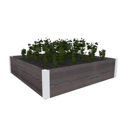 Urbana Square Garden Bed Planter Espresso - Vita