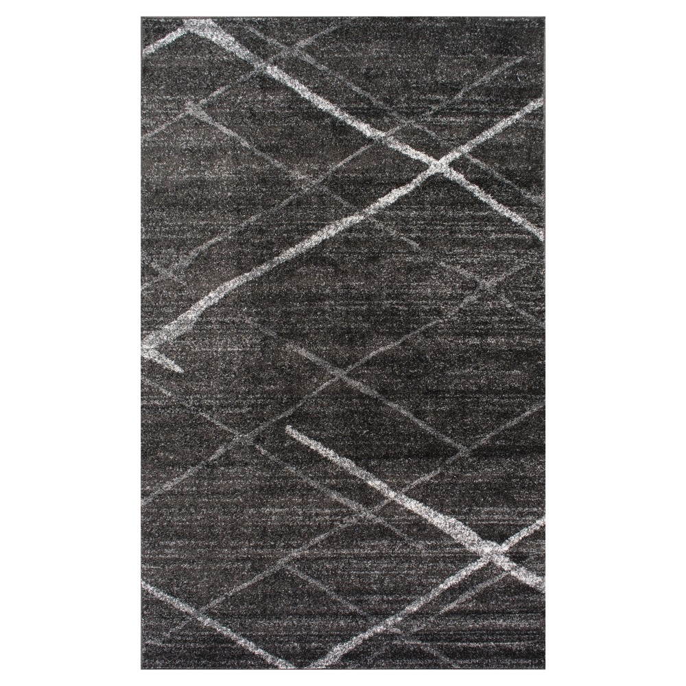 Sterling Gray Solid Loomed Area Rug - (5'x8') - nuLOOM, Beige Gray