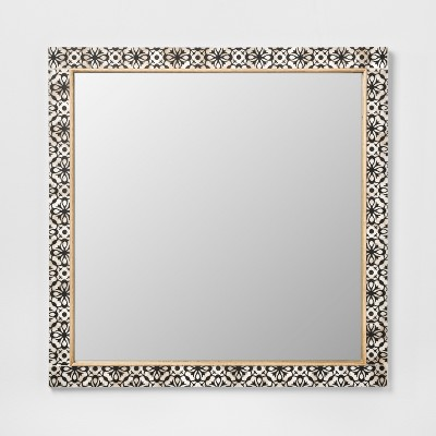 Havana Pieced Mirror Black 24x24 - Opalhouse™
