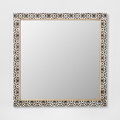 Havana Pieced Mirror Black 24x24 Opalhouse Target