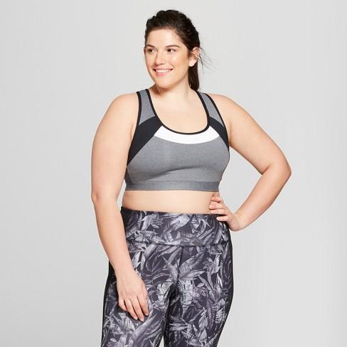 fc4dc4d9a3b Women s Plus Size Strappy Back Sports Bra - C9 Champion® Dark ...