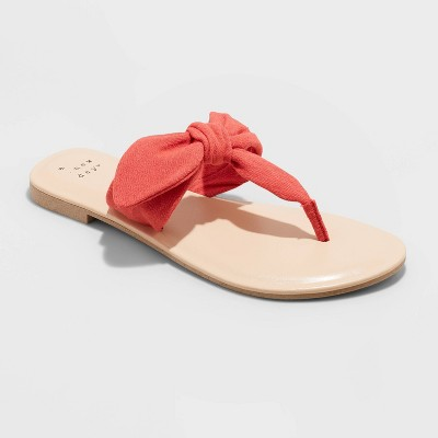 Women's Hannah Knotted Bow Flip Flop Sandals - A New Day™