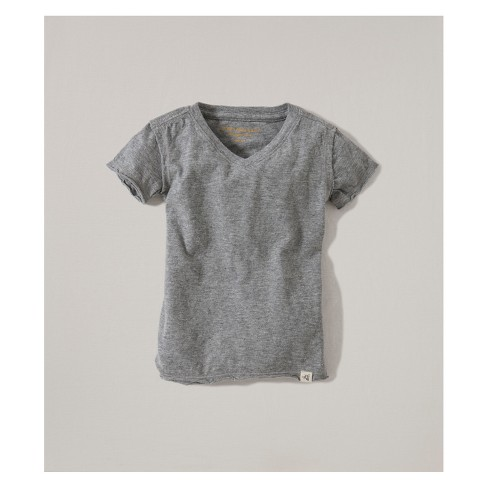 0b2c73a03df7 Burt's Bees Baby® Organic Cotton V-Neck Short Sleeve T - Shirt - Heather  Gray : Target