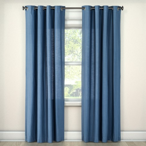 Natural Solid Light filtering Curtain Panel - Threshold™ - image 1 of 2