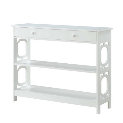 Omega 1 Drawer Console Table White - Breighton Home