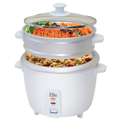 elite gourmet 16 cup rice cooker with steam tray in white target rh target com kitchen gourmet rice cooker instructions kitchen gourmet rice cooker manual
