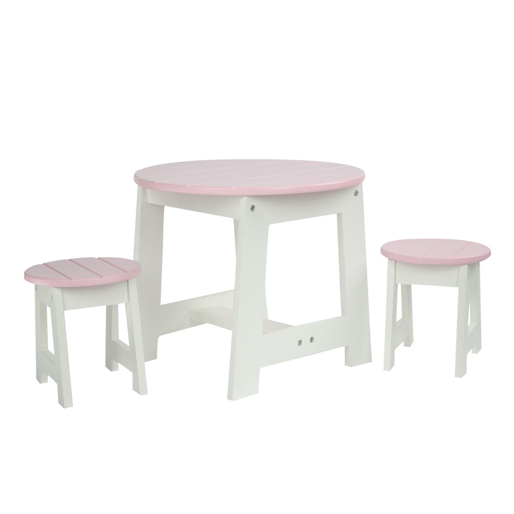 Olivia's Little World - Little Princess 18 Doll Furniture - Table & 2 Chairs Set, Multi - Colored