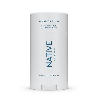Native Sea Salt & Cedar Deodorant for Men - 2.65oz