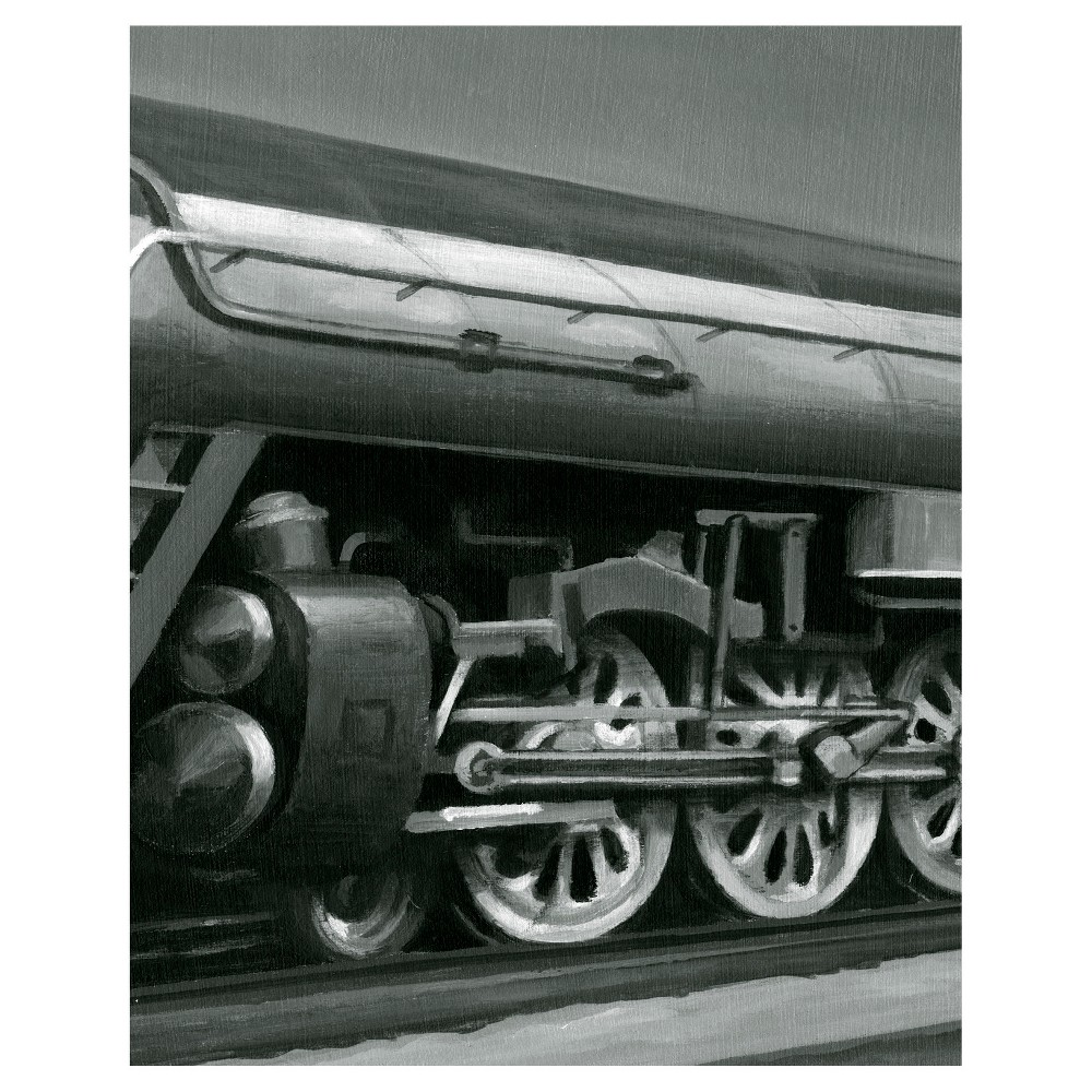Vintage Locomotive II Unframed Wall Canvas Art - (24X30), Multi-Colored