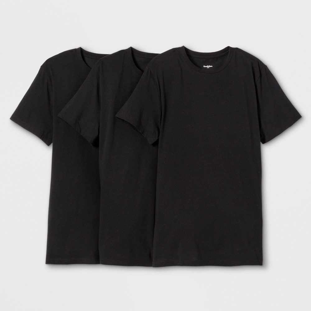 Men's Short Sleeve Premium Crew Undershirt - Goodfellow & Co Black XL was $18.99 now $9.99 (47.0% off)