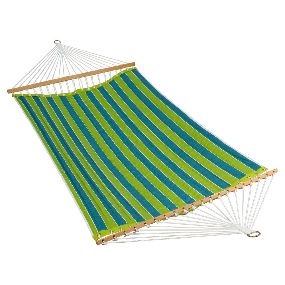 Algoma 11 Foot Polyester Fabric Hammock - Wickenburg Teal (Blue)/Cobble Willow
