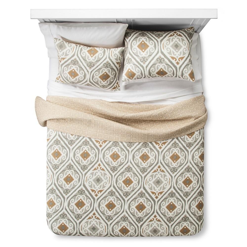 Image of Zavarka Quilt Set King Gray&Gold - homthreads, Gold Gray