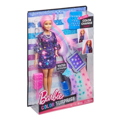 Barbie Color Surprise Hair Doll Target