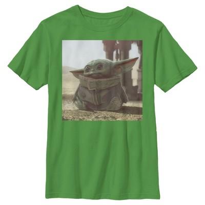 Boy's Star Wars The Mandalorian The Child Square Frame T-Shirt