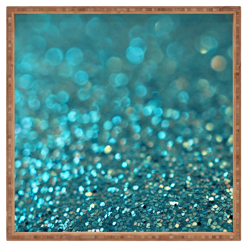 Lisa Argyropoulos Aquios Square Tray - Blue - Deny Designs, Paradise Teal
