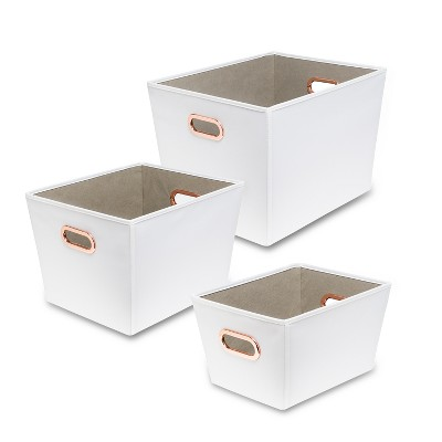 Honey-Can-Do Decorative Organizing Totes White