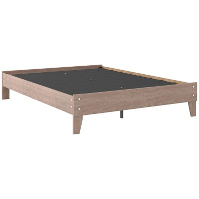 Flannia Platform Bed Gray - Signature Design by Ashley