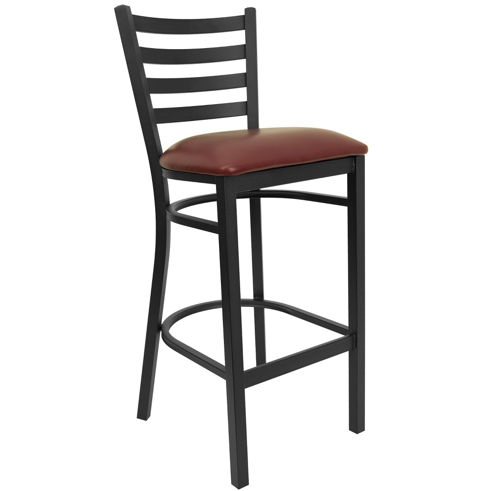 Riverstone Furniture Collection Ladder Stool Burg Seat Black