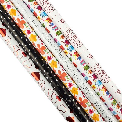 """6-PacK 30"""" x 120"""" Gift Wrapping Paper Theme for Birthday Christmas Holiday Party"""