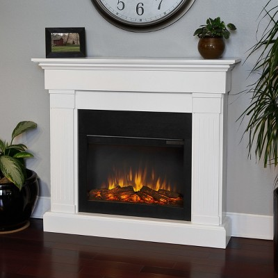 Real Flame - Crawford Slim Electric Fireplace-White