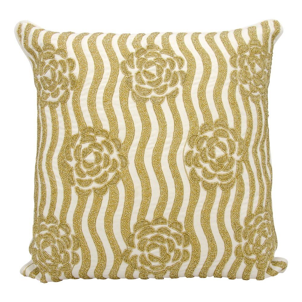 Image of Gold Mosaic Throw Pillow - Mina Victory