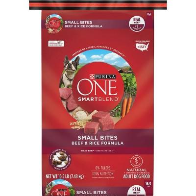 Purina ONE SmartBlend Small Bites Beef & Rice Formula Adult Dry Dog Food