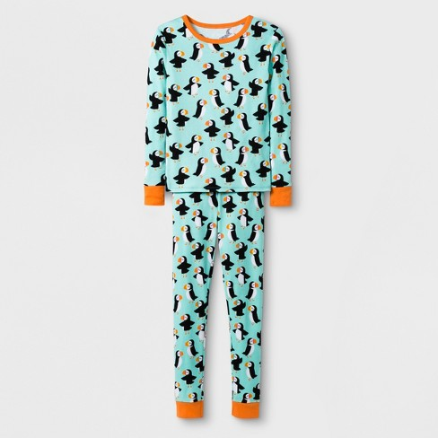 2142794b13 Girls  2pc Tight Fit Long Sleeve Puffins Graphic Pajama Set - Cat   Jack™  Green