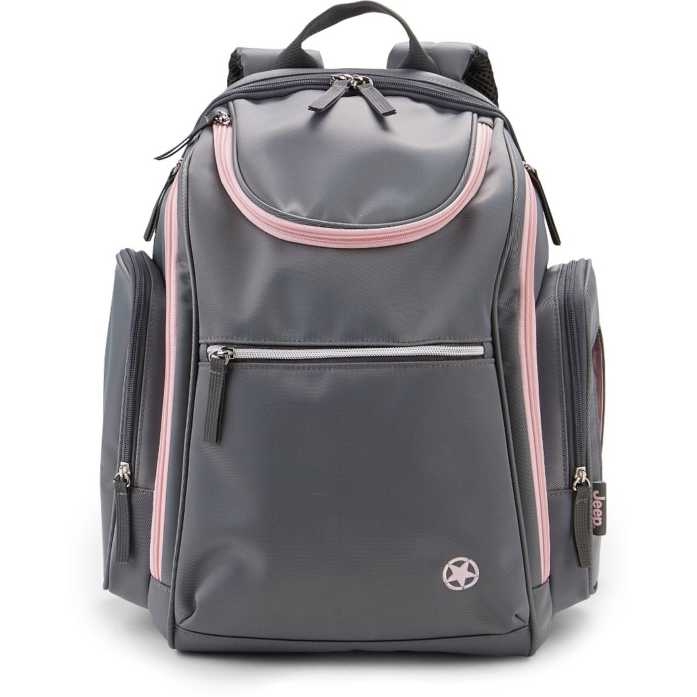 Image of Jeep Backpack - Gray/Pink, Pink Gray