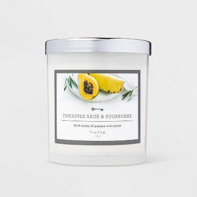 11oz Glass Jar Pineapple Sage Candle - Threshold™