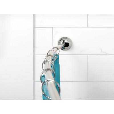 Zenna Home NeverRust Curved Tension Shower Rod - Chrome