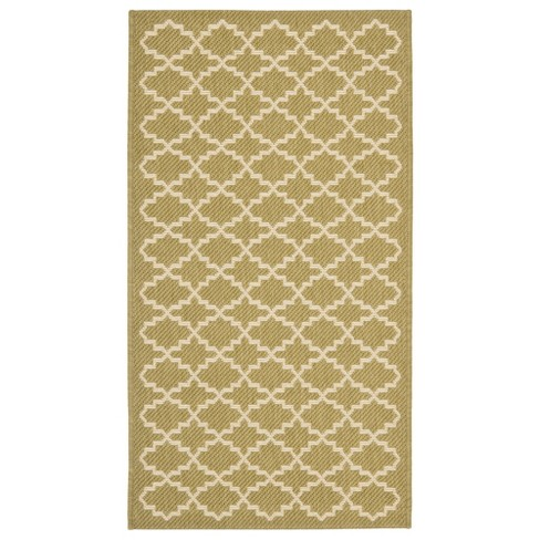 Durres Patio Rug - Green / Beige - Safavieh® - image 1 of 1