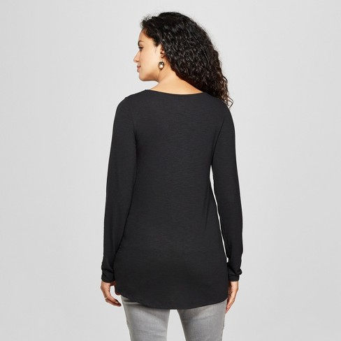 2e404bfd055 Maternity Long Sleeve Cross-Panel Nursing Top - Isabel Maternity by Ingrid    Isabel™