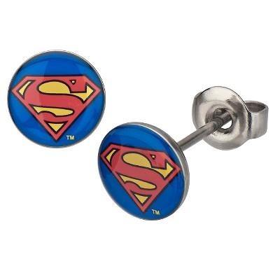 DC Comics Superman Stainless Steel Stud Earrings