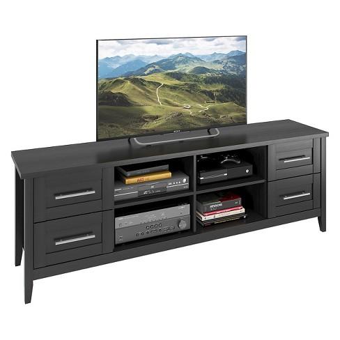 "Jackson Extra Wide Drawer TV Bench Black 80"" - CorLiving - image 1 of 3"