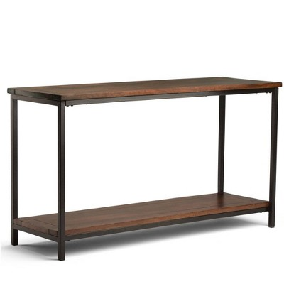 "54"" Rhonda Console Sofa Table Dark Cognac Brown - WyndenHall"