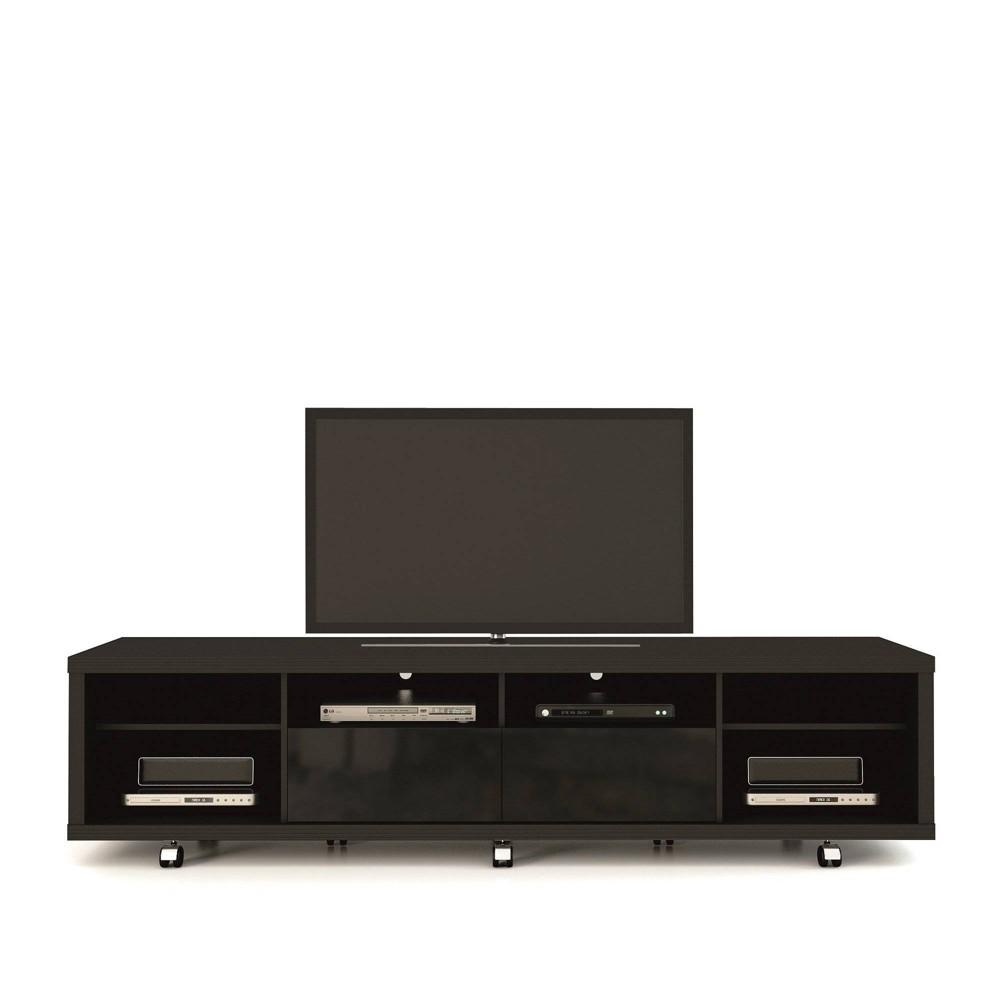 Cabrini TV Stand 2.2 Black - Manhattan Comfort
