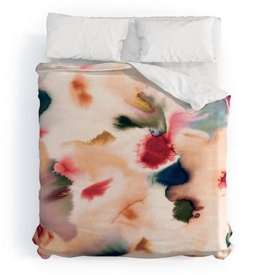 Ninola Design Abstract Watercolor Mineral Cotton Duvet Set - Deny Designs