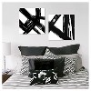 """(Set of 2) 22"""" x 22"""" Abstract Black and White Embellished Canvas - Project 62™ - image 4 of 4"""