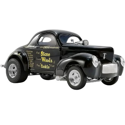"""1941 Willys Gasser Stone Woods """"Cookie"""" Black Limited Edition to 546 pieces Worldwide 1/18 Diecast Model Car by ACME"""