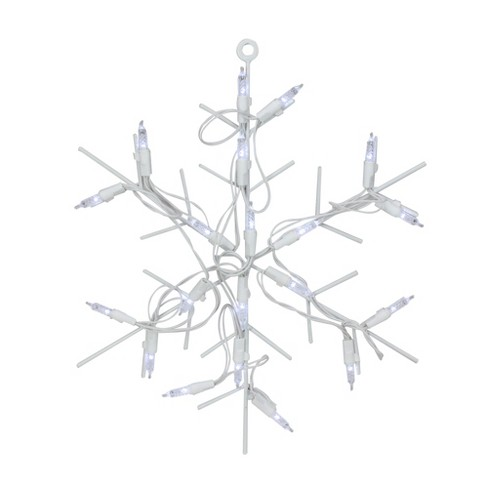 "Northlight 12"" Battery Operated LED Lighted Snowflake Christmas Window Silhouette with Timer - image 1 of 2"