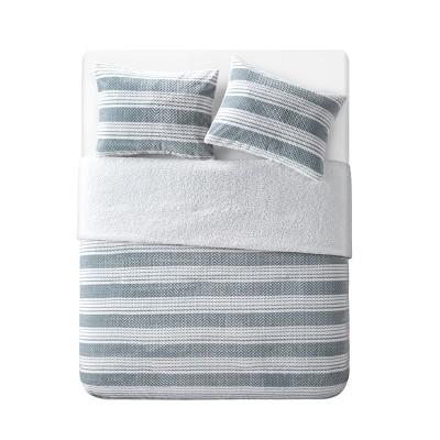 King Randel Comforter Plush Sherpa - Grey/White Gray/White - VCNY HOME