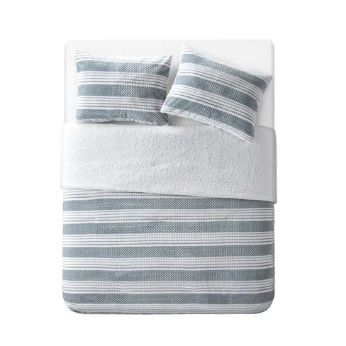 Randel Comforter Plush Sherpa - Grey/White - VCNY HOME - image 1 of 3