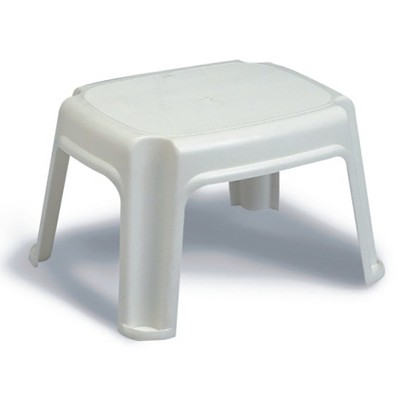 Gracious Living Extra Safe Non Slip 9.5 Inch Tall Rubber 2 Step Home Step Stool, White, Supports 300 Pounds